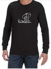 Sad Spaceman Mens Long Sleeve T-Shirt Black (Small)