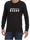 Schrodinger's Cat Mens Long Sleeve T-Shirt Black (Small)