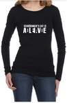 Schrodinger's Cat Womens Long Sleeve T-Shirt Black (Medium)