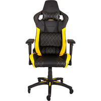 CORSAIR - T1 Race Padded Seat Padded Backrest Office/Computer Chair - Black/Yellow