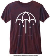Bring Me The Horizon - Umbrella Mens Navy Red T-Shirt (X-Small) - Cover