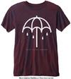 Bring Me The Horizon - Umbrella Mens Navy Red T-Shirt (X-Small)