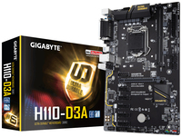 Gigabyte H110-D3A ATX Crypto Mining Motherboard - Cover
