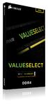 Corsair - Valueselect 4GB DDR4-2400 CL16 1.2v - 288pin Memory Module
