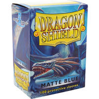 Dragon Shield - Standard Sleeves - Matte Blue (100 Sleeves)
