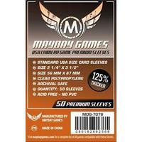Mayday Games - Premium USA Dark Orange Chimera Sleeves 57.5 X 89 Mm (50) (50 Sleeves)
