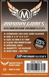 Mayday Games - Premium USA Dark Orange Chimera Sleeves 57.5 X 89 Mm (50) (50 Sleeves) - Cover