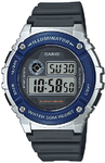 Casio Standard Collection 50m WR Digital Watch - Silver and Blue