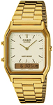 Casio Retro Analog and Digital Watch - Gold