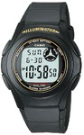 Casio Standard Collection WR Digital Watch - Black and Gold