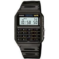 Casio Databank WR Digital Watch with 8-Digit Calculator - Black