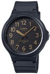 Casio Standard Collection 50m WR Analog Watch - Black and Gold