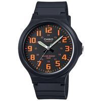 Casio Standard Collection 50m WR Analog Watch - Black and Orange