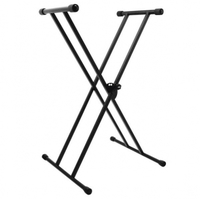 On-Stage KS7191 Classic Double-X Keyboard Stand (Black) - Cover