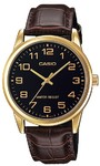 Casio Standard Collection WR Analog Watch - Gold and Black