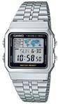 Casio Retro WR Digital Watch - Silver and Black