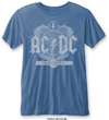 AC/DC - Black Ice Mens Burnout Mid Blue T-Shirt (XX-Large) Cover