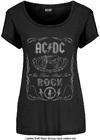 AC/DC - Cannon Swig Vintage Ladies Scoop Neck T-Shirt - Black (Small)