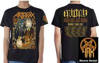 Anthrax - Evil Twin Men's Black T-Shirt (Medium) - Cover