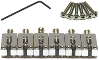 Graphtech String Saver Classics Saddles for Stratocaster and Telecaster Style 2 3/16 Inch String Spacing (Chrome) - Cover