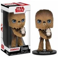 Funko Pop! - Funko Wacky Wobblers New Edition Star Wars Episode 8 The Last Jedi - Chewbacca With Porg Bobble Head Action Figure 15cm - Cover