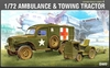 Academy - 1/72 - WWII US Ambulance & Towing Tractor (Plastic Model Kit)