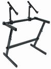 Quik Lok Z/726 Z Frame 2 Tier Keyboard Stand (Black)