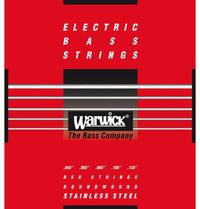 Warwick 42301 M 5B Red Label Series 45-135 Medium Low B 5 String Stainless Steel Bass Guitar Strings - Cover