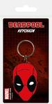 Marvel - Deadpool Face Rubber Keychain