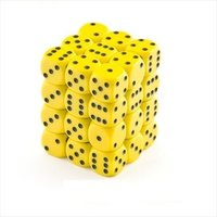 Chessex - 12mm D6 36 Dice Block - Opaque Yellow / Black - Cover
