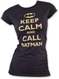 Batman - Keep Calm Women's Shirt Black (Small) - Cover