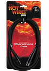 On-Stage MC12-10 XLR Make to XLR Female Microphone Cable - 10ft (Black)