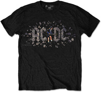 AC/DC - Those About to Rock Mens Black T-Shirt (Small) - Cover