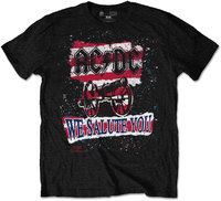 AC/DC - We Salute You Stripe Mens Black T-Shirt (Small) - Cover