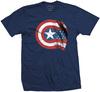 Captain America - American Shield Mens Navy T-Shirt (Small)