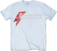 David Bowie - Aladdin Sane Eye Flash Mens Blue T-Shirt (Medium) - Cover