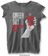 Green Day - American Idiot Vintage Ladies Burnout Charcoal T-Shirt (Small)