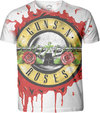 Guns N Roses - Blood Drip Mens White Sublimation T-Shirt (XX-Large)