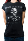 Iron Maiden - Book of Souls Diamante Ladies Black T-Shirt (Small)