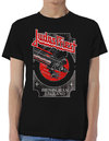 Judas Priest - Silver and Red Vengeance Mens Black T-Shirt (XX-Large)