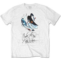 Pink Floyd - The Wall Teacher Mens White T-Shirt (Large) - Cover