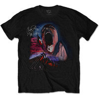 Pink Floyd - The Wall Scream & Hammers Mens Black T-Shirt (Medium) - Cover