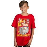 Minecraft - Vintage Runaway Cart Youth T-Shirt (X-Small) - Cover