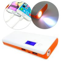 Tuff-Luv 15000mAh 2 Outputs 1a and 2a Battery Type Li-Ion Power Bank - Orange and White