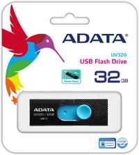 ADATA UV320 32GB USB 3.1 (3.1 Gen 2) Type-A USB flash drive - Black/Blue - Cover