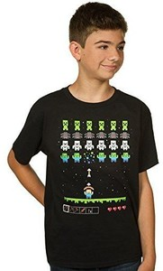Minecraft - Invaders Youth T-Shirt (Medium) - Cover