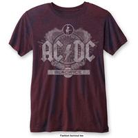 AC/DC Men's Fashion Tee: Black Ice (Burn Out) (Medium) - Cover
