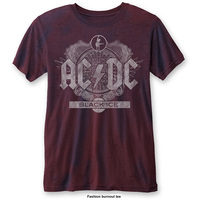 AC/DC Men's Fashion Tee: Black Ice (Burn Out) (X-Large) - Cover