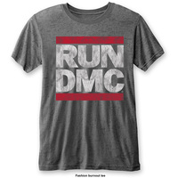 Run DMC Men's Fashion Tee: DMC Logo with Burn Out Finishing (Medium) - Cover