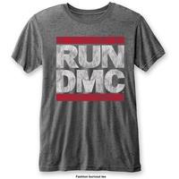 Run DMC Men's Fashion Tee: DMC Logo with Burn Out Finishing (X-Large) - Cover